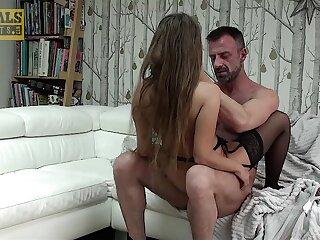 Bush-leaguer hard sex in submissive XXX tryout